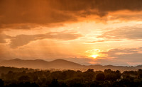 Rainy Sunset in Asheville, North Carolina.