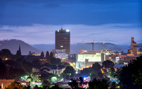 Asheville, North Carolina at Blue Hour.