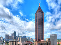 Downtown Atlanta featuring Bank of America Plaza.