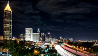 Night shot of Atlanta