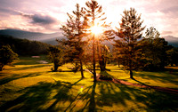 Sunset over the Mount Mitchell Golf Course in Burnsville, North Carolina