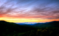 Sunset in the North Carolina Mountains