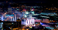 Centennial Olympic Park 4th of July Fireworks from Bank of America Plaza