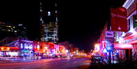 Broadway Street in Downtown Nashville Tennessee