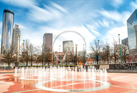 Skyview Atlanta and Centennial Park Long Daytime Exposures